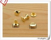 8mm gold rivet , rivet stud,metal rivet, double cap rivet, copper rivet  30 sets   H8