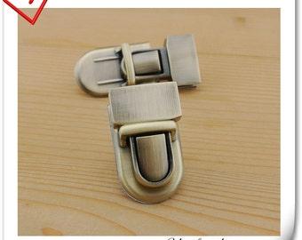 Anti bronze Purse lock  twist  purse turn lock clutch clock  23mm x 40mm (1 inch x 1.5 inch )   N8