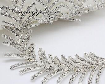 90cm Rhinestone trim Rhinestone chain  for Bridal Wedding Sash  Dress applique by the yard HB21
