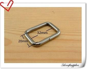 1.25 inch (inner diameter) gunmetal rectangular buckles 10pcs 5.0mm thickness U14
