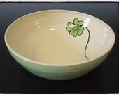 Lucky Clover White/Green Big Bowl by misunrie