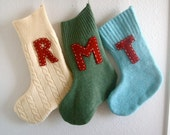 Custom Initial Wool Stocking