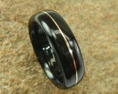 Bentwood Ring Ebony with Gold Wire Inlay