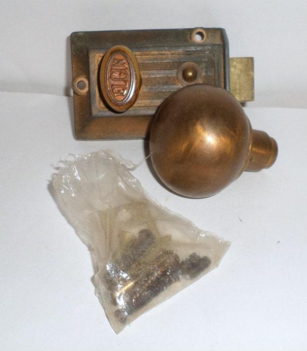 Old Deadbolt Locks Vintage Elgin Deadbolt Lock