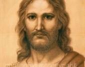 Reserved for Elizabeth-  Christ - canvas on masonite board 11 x 14