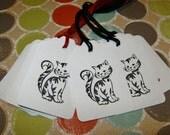 Custom for Debbie J - 50 Here Kitty Kitty Gift Tags