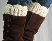 Boot Cuff pattern with scallops, DIY boot cuff