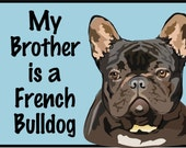 French Bulldog - Black/Baby Clothes/Baby Boys' Bodysuit/Baby Girls' Bodysuit/Baby Shower Gift/Toddler tee shirt