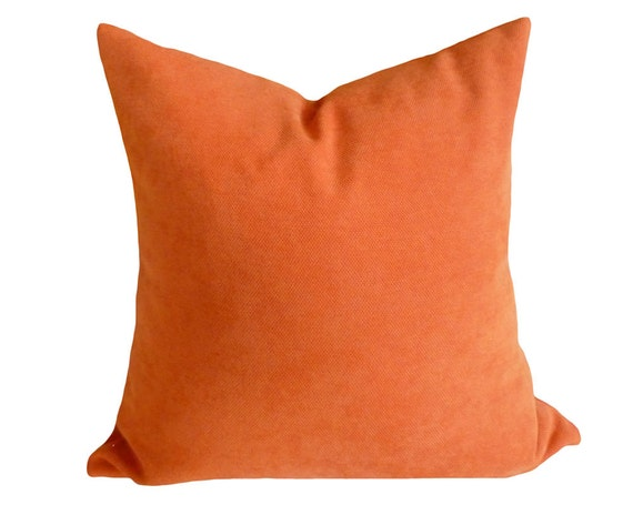 Solid Orange Pillow,  16x16, Decorative Throw Pillows, Eclectic, Textured, Pumpkin Orange Accent Pillow, Cushion Covers, NEW