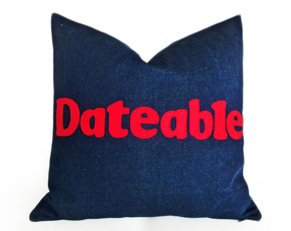 Funny Pillows Funny Dad Gift DATEABLE Pillow Man Cave