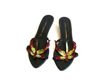 ROBERT CLERGERIE French Vintage Dragonfly Sandals