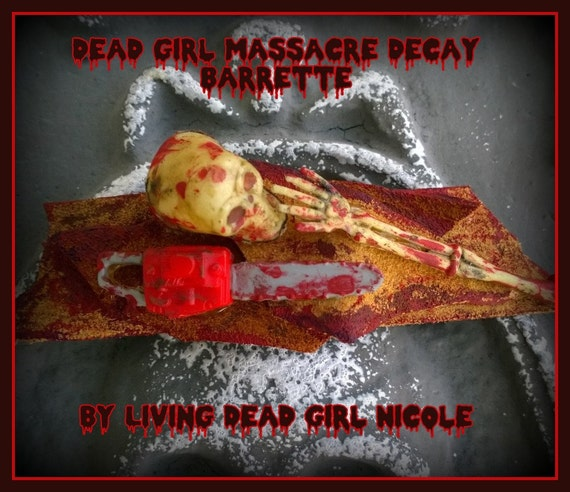 Hair Barrette: Dead Girl Massacre Decay Leatherface At Work