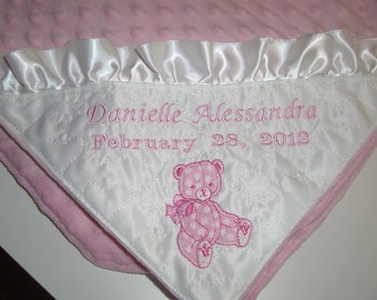 PERSONALIZED BLANKETS perfect gift for a new baby or baptism