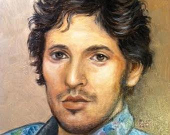 Original Oil Painting Portrait of Bruce Springsteen
