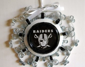 Oakland Raiders Recycled Aluminum Can Ornament
