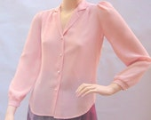 Sweet Little Vintage Pink Pastel Blouse by Half-Pint