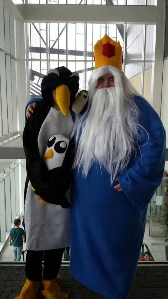 Ice King Cosplay Robe crown gunther beard wig and by ...