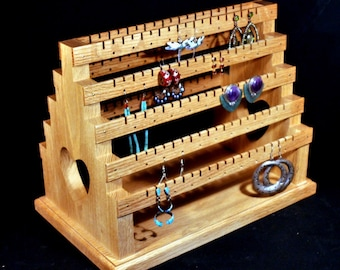 Double Sided Medium Standing Earring Holder Earring Display Earring Organizer Earring Storage Organizer with Pegs