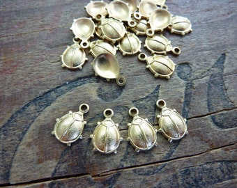 Small Brass Ladybug Stampings (4)