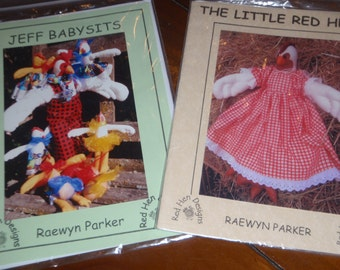 2 Cloth Chicken Patterns - Little Red Hen, Jeff Babysits - print patterns ***SALE***