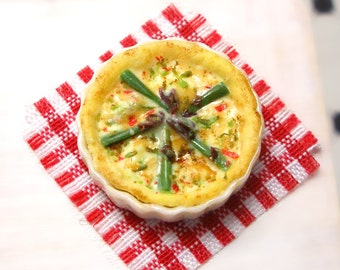 Asparagus Flan - Dollhouse Miniature Food Handmade