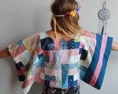 Cropped Patchwork Floral ...