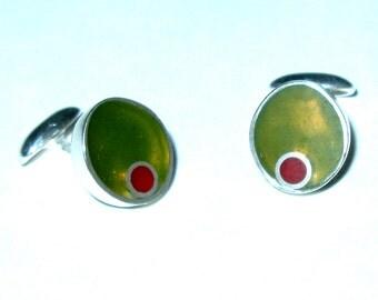 Olive Cufflinks