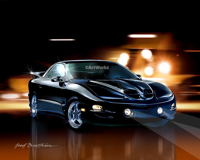 muscle car 2002 pontiac trans am ws6 hot rod art 8 x 10. Black Bedroom Furniture Sets. Home Design Ideas