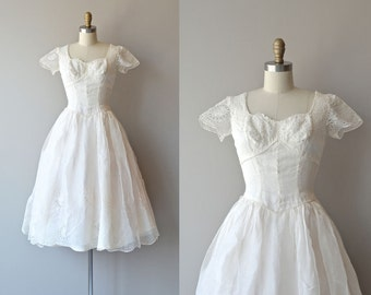 Among Angels wedding dress | vintage 1940s wedding dress • white lace 40s dress