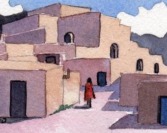 """ACEO """"Mi Casa"""" reproduction of original watercolor"""