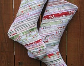 Christmas Stockings Upcycled Selvages Set Of Two