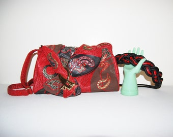 Vintage Purse with Belt The Vixen Wore Red