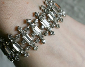 Gorgeous Clear Rhinestone Bracelet