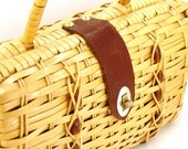 Vintage Structured Woven Mini Handbag