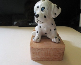 Dalmation puppy paper weight