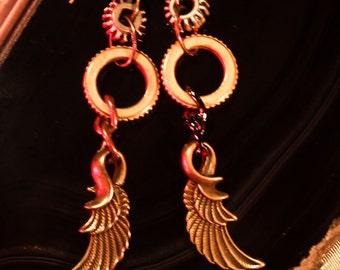 Wings Mechanique Earrings