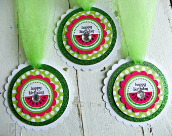 Watermelon Favor Tags...Set of 12 Favor Tags