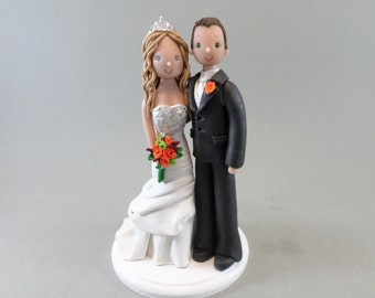 Unique Cake Toppers - Traditional Bride & Groom Wedding Cake Topper