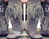Road Warrior . Upcycled Embellished Super Slouchy Suede Boots . Women's 8.5/9