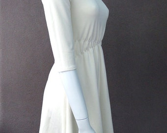Short tunic dress, organic cotton dress, mini dress, handmade in Canada, natural fabric dress