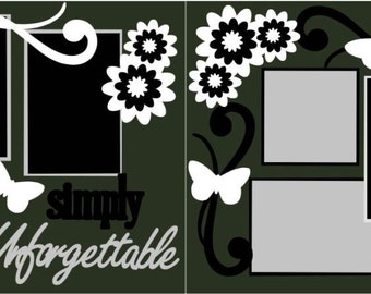 Simply Unforgettable  2-page 12x12 do-it-yourself scrapbook kit