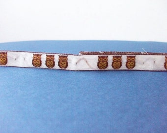 SALE Cute Japanese Woven Trims -Owl Ivory- 1 M