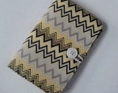 Family Passport Wallet - Holder - yellow - grey - Gray - chevron - Travel - Cover - Vacation - Stocking Stuffer - Spring Break