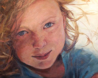 Original Oil Painting, Custom, Commissioned Portrait on Canvas