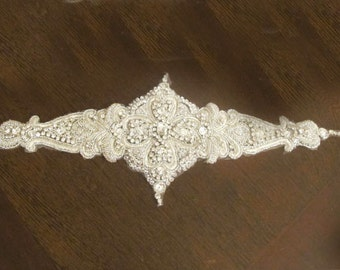 Bridal Sashes Luxury Rhinestones Crystal Beaded  Wedding  Belt