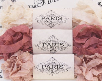 Seam Binding,Scrunched, Shabby Crinkled Ribbon, Dusty Pink, Cream, Rayon Ribbon, French Vintage, Crazy Quilting, Australia- Creme Brûlée