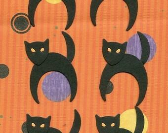 Lot of 6 Quickutz Black Cat Die Cuts