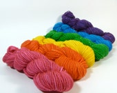 Mini Skein Set - Jest Sparkle 2ply Merino/Nylon/Stellina - Loud and Proud