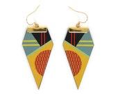 Leather Earrings - Minimal Geometry