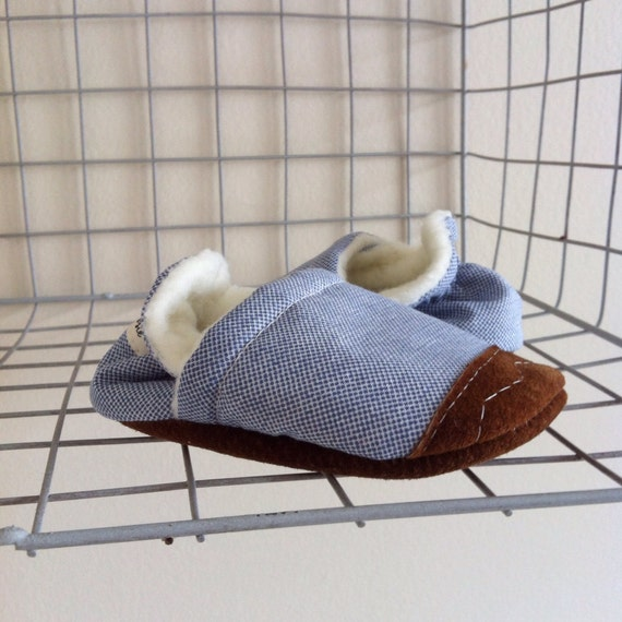 Soft Soled Baby Shoes - Blues